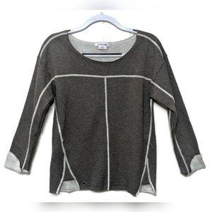 NWOT Lacoste Gray Shimmery Fleece Sweatshirt, 36